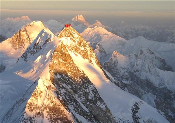 Вершина Броуд Пик (BP). Вид с восьмитысячника К2