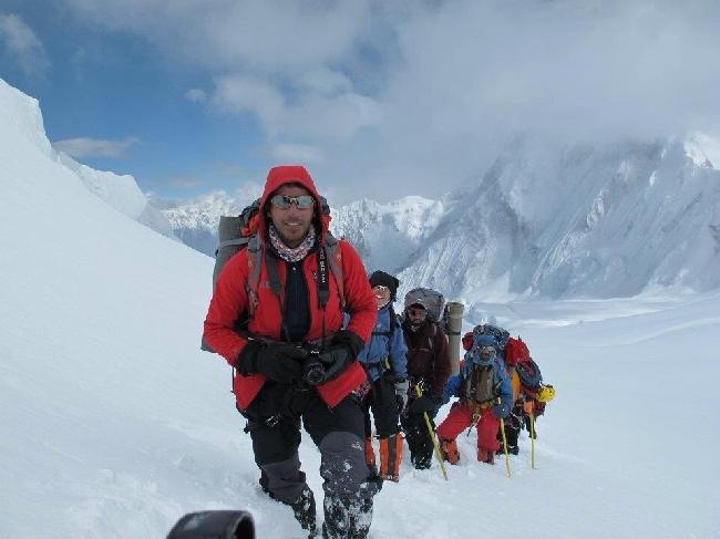 Команда иранских альпинистов у Броуд Пик. июль 2013 года