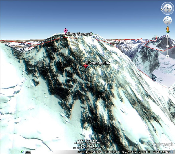 место последнего бивуака иранских альпинистов на Броуд Пик