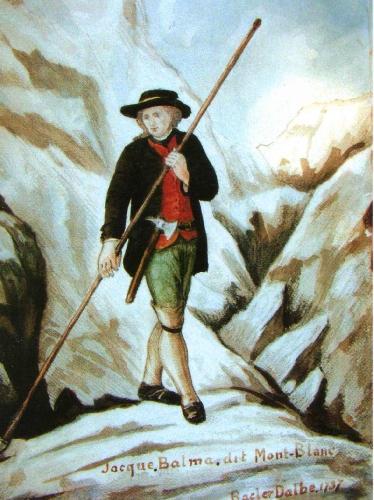 Жак Бальма (Jacques Balmat). Картина Bacler d