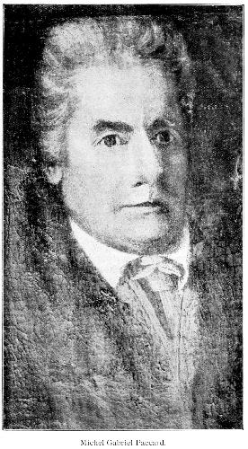 Мишель Габриэль Паккар (Michel Gabriel Paccard). Портрет из дома MJ P, Cachat - правнука Паккара