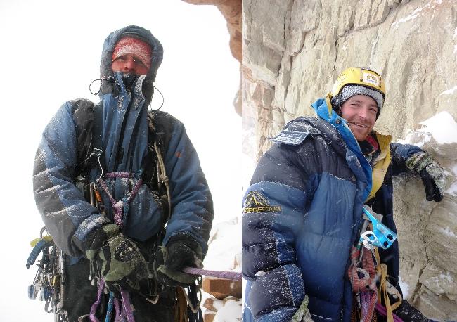 Евгений Полтавец и Евгений Тимко в зимнем восхождении на Ерыдаг. 2012 год
