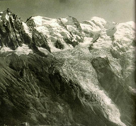 Вершина Монблана, вид из Planpraz. Фото 1880 года