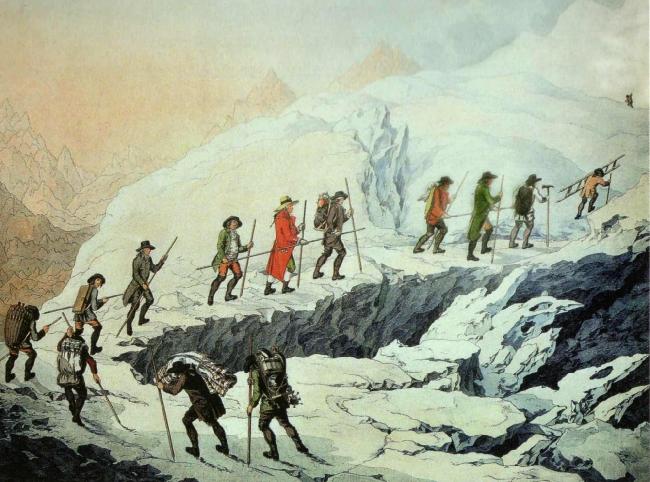 Восхождение на Монблан экспедиции де Соссюра. 1787 год