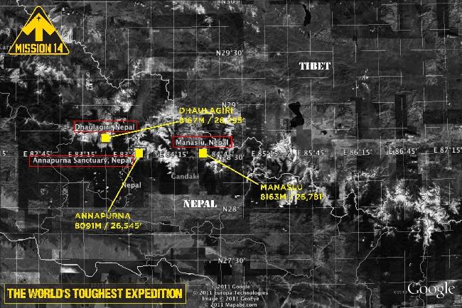 вершины 14x8000 в  Тибете