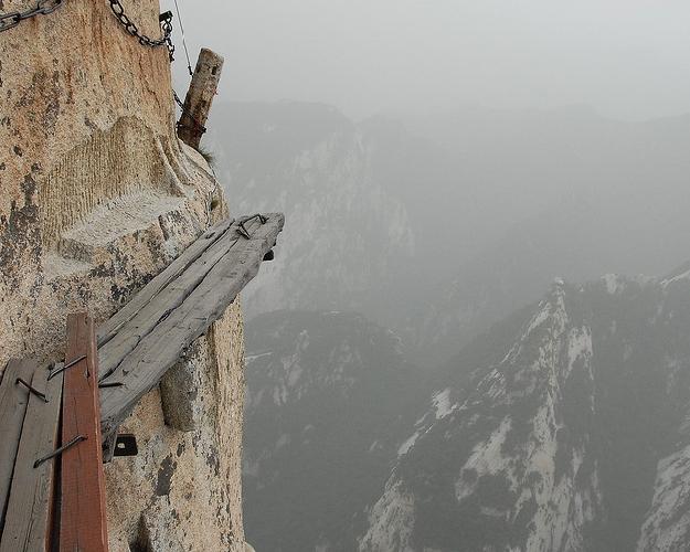 горная тропа к священной горе Хуашань (Hua Shan), Китай