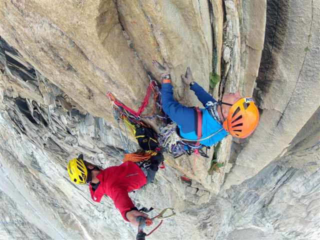 "маршрут ""Bushido"" (A4, VII + VII Big Wall). Great Trango Tower"