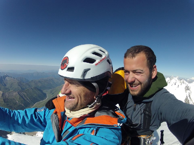 Кристиан Штангль (Christian Stangl) на вершине Шхара. 23 августа 2013 года