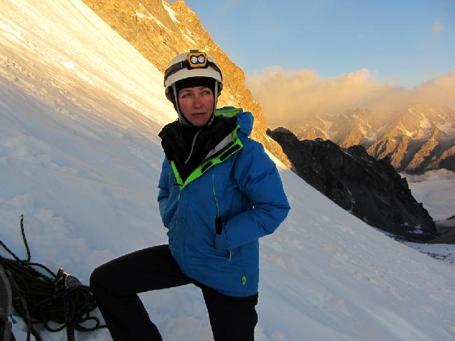 Кавказ, Безенги. Перед началом восхождения на вершину Урал Восточный