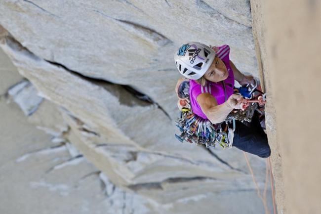 "Майя Смит-Гобат (Mayan Smith-Gobat) на маршруте ""The Nose"", El Capitan, Yosemite"