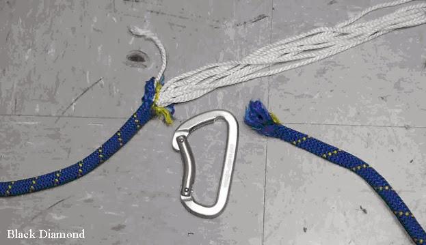 Иллюстрация 22. Обрыв веревки в тесте Black Diamond.