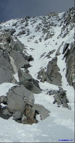 Иллюстрация 3. Фотография места аварии. Отчетливо виден оставшийся кусок веревки