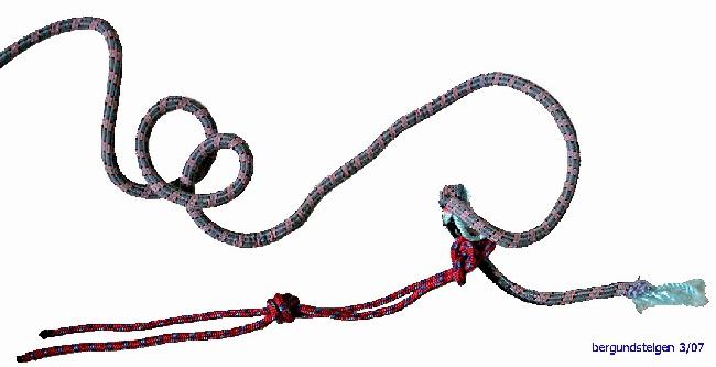 Иллюстрация 5. Фото оборванной части веревки, оставшейся на пострадавшем.