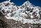 Базовый лагерь и маршрут восхождения по Южной стороне Эвереста. Ледопад Кхумбу, семитысячник Нупцзе справа, Эверест слева, и восьмитысячник Лхоцзе по центру. Фото Jon Griffith
