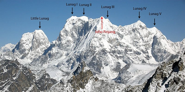 Горный массив Lunag Ri