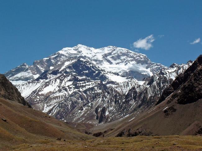 Аконкагуа (Aconcagua, 6962м).  Наивысшая точка  Американского континента, Южной Америки, западного и южного полушарий