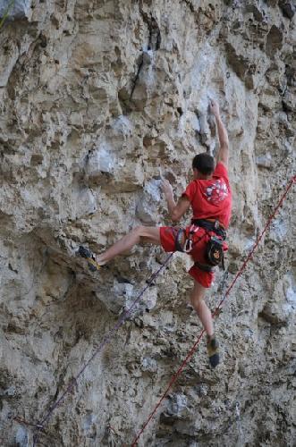 Украинские скалолазы на скалах Словении