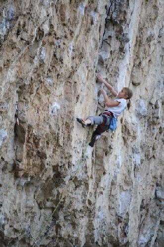 Потапова Ника на скалах Словении