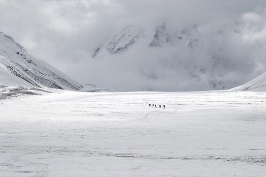 Возвращаемся. Ледник Москвина.
