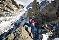 Сентябрь: Ben Briggs на восхождении по маршруту Diables Arete на вершину Mont Blanc du Tacul