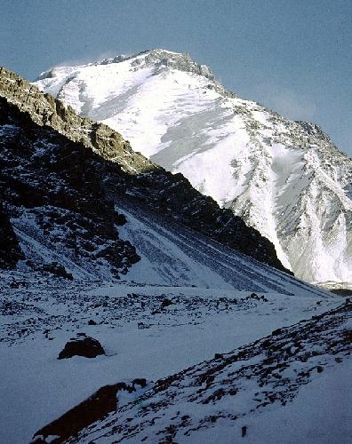 Зима 1973. Вид на Западную стену Ношак (Noshaq Peak)