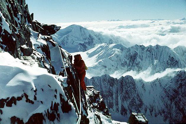Зимняя экспедиция 1973 года. Ключевой участок маршрута над высотным лагерем Camp V