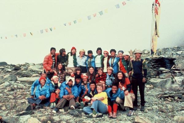 Церемония Пуджа в Базовом лагере женской экспедиции на Аннапурну. 1978 год