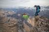 В Ингушетии бэйс-джамперы прыгнули с Олимпийским факелом с вершины горы Цей-Лоам (3170 метров) +ФОТО