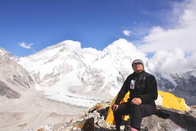 Юичиро Миура (Yuichiro Miura) на Эвересте, 2013 год