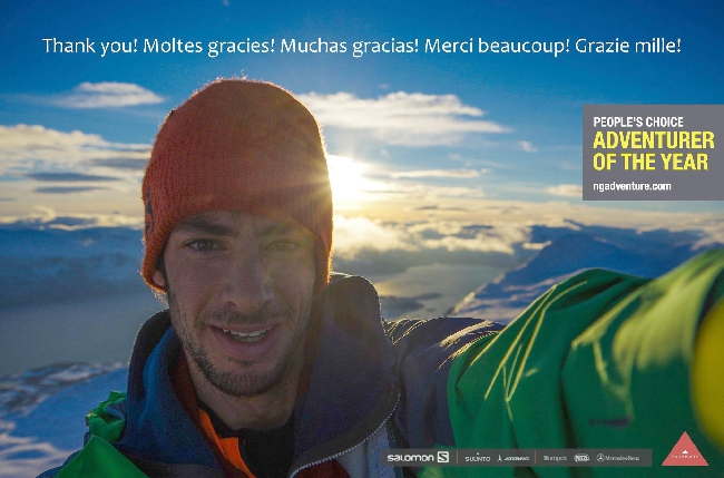 "Килиан Джорнет (Kilian Jornet Burgada) выиграл премию National Geographic 2014 года: ""Adventurers of the Year"""