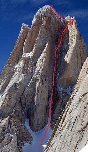 Маршрут Supercanaleta route на вершину Фицрой