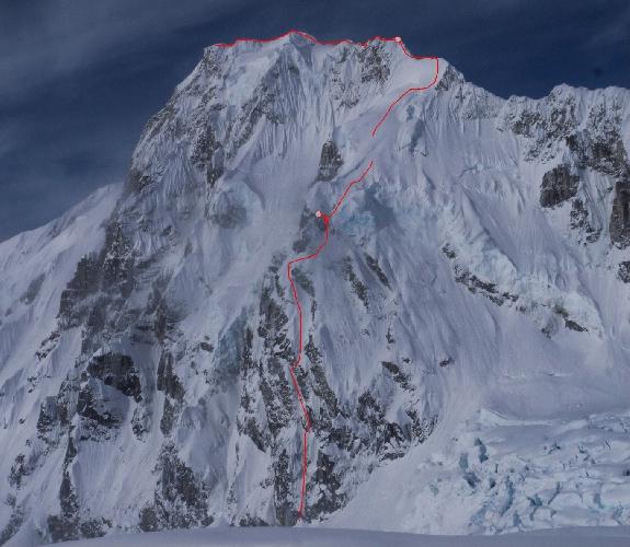 маршрут первопрохождения на пик Лоренс (Laurens, 3060м, Аляска) по Северо-Восточной стене