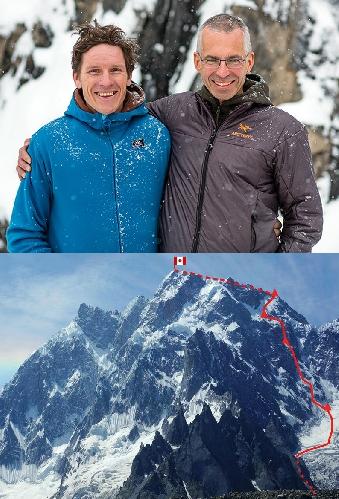 Ян Вельстед (Ian Welsted) и Рафаэль Славински (Raphael Slawinski) и их новый маршрут на пик K6 Западный ( K6 West , 7040 м)