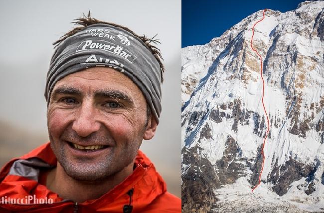 Ули Штек (Ueli Steck), Швейцария, и его новый маршрут пройденныйза первое восхождение соло по Южной стене Аннапурны (Annapurna South Face, 8091 м) по новому маршруту