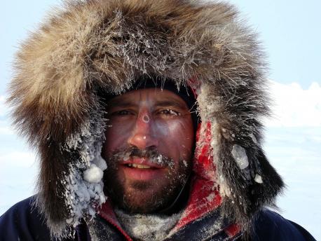 Адриан Хейс (Adrian Hayes) на Северном полюсе