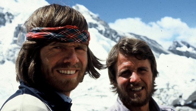 Райнхольд Месснер (Reinhold Messner) и Петер Хабелер. 1978 год