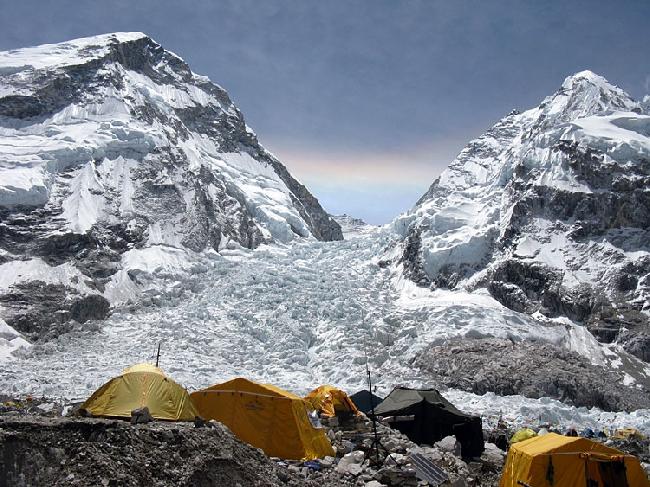 Базовый лагерь Эвереста. Вид на Ледопад Кхумбу