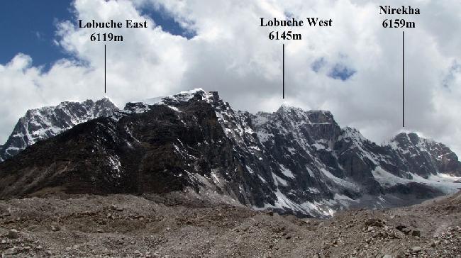 Лобуче Западная, Лобуче Восточная и Нирекха
