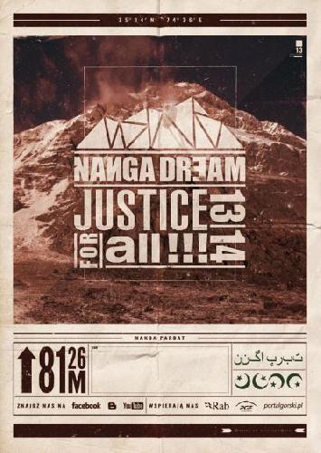 """официальный логотип польской экспедиции """"Nanga Dream – Justice for All 2013-2014"""""""