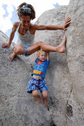 Линн Хилл (Lynn Hill) с сыном Оуэном