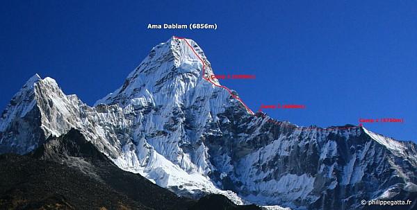 Ама-Даблам, стандартный маршрут восхождения