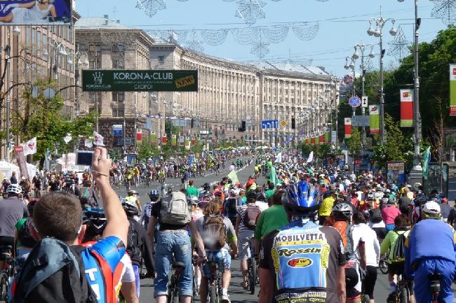 Велодень в Киеве. 2013 год