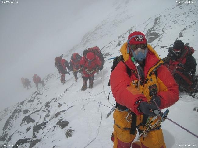 """экспедиция """"Клуб 7 Вершин"""" под руководством Александра Абрамова поднимается на Эверест. 24 мая 2014 года"""