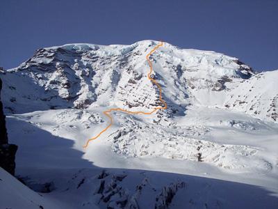 Маршрут восхождения на хребет Свобода (Liberty Ridge Route) горы Рейнир (Mount Rainier)