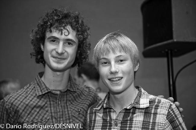 Александр Мегос (Alexander Megos) и Адам Ондра (Adam Ondra)