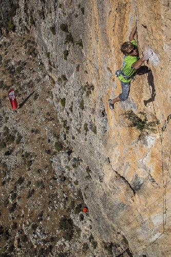 Александр Мегос (Alexander Megos)  на фестивале Kalymnos Climbing Festival