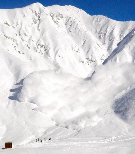 Лавина на горе Масаго (Mount Masago), Япония в которой погибли 7 человек