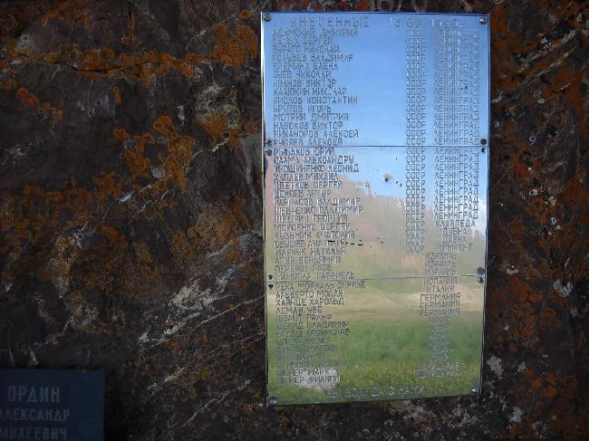 Памятная табличка на пике Ленина
