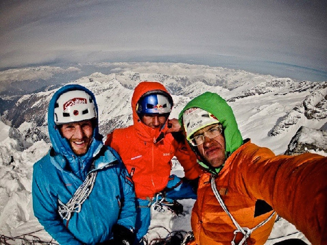 Питер Ортнер (Peter Ortner), Давид Лама (David Lama), Хансйорг Ауэр (Hansjörg Auer)