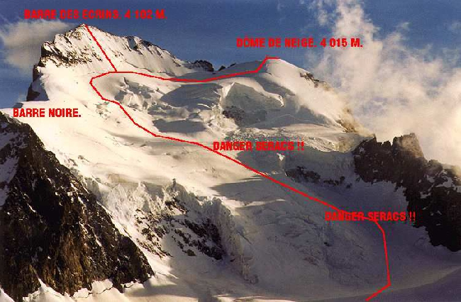 Стандартный маршрут восхождения на массив Des Ecrins